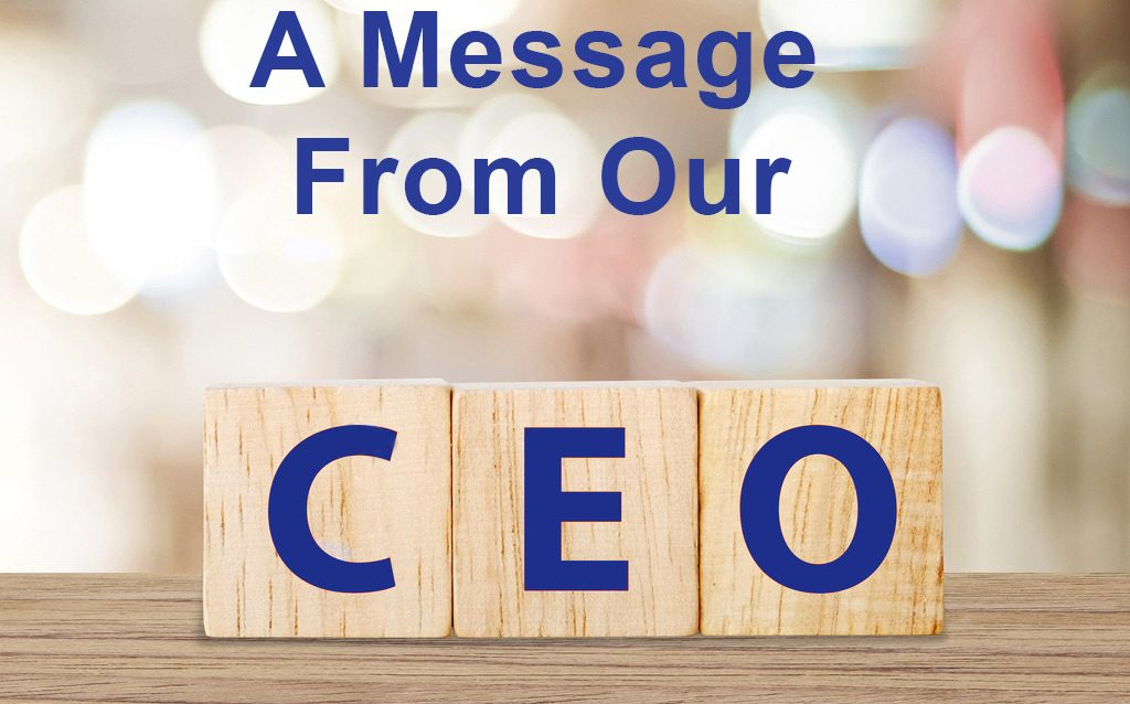 Message from our CEO